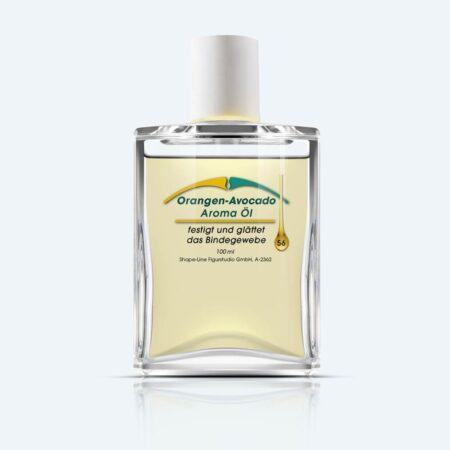 Hautstraffung, mehr Hautelastizität und festes Bindegewebe durch das Orangen Avocado Öl von Shape-Line.